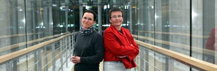 Petra Sitte und Kathrin Vogler
