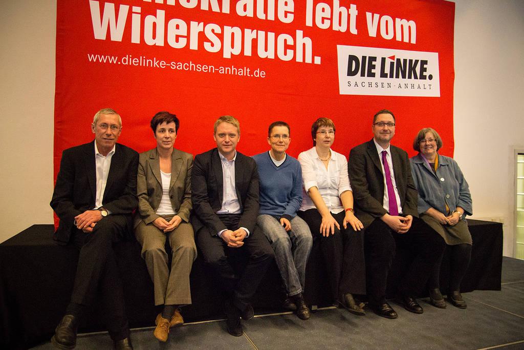 Petra Sitte mit KollegInnen der Fraktionsliste für die Bundestagswahl 2013