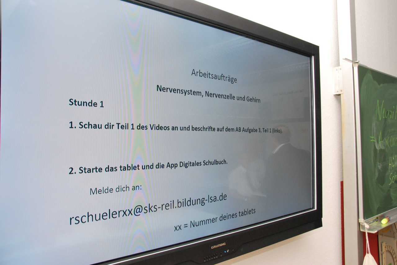 "Das ""Riesentablet"" in Nahaufnahme"