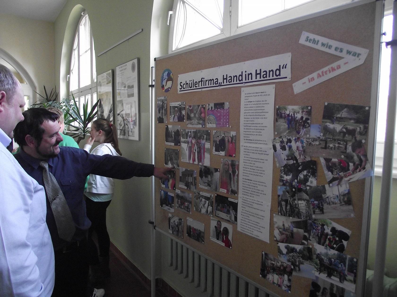 """Präsentation und Bilder der Schülerfirma """"Hand in Hand"""""""