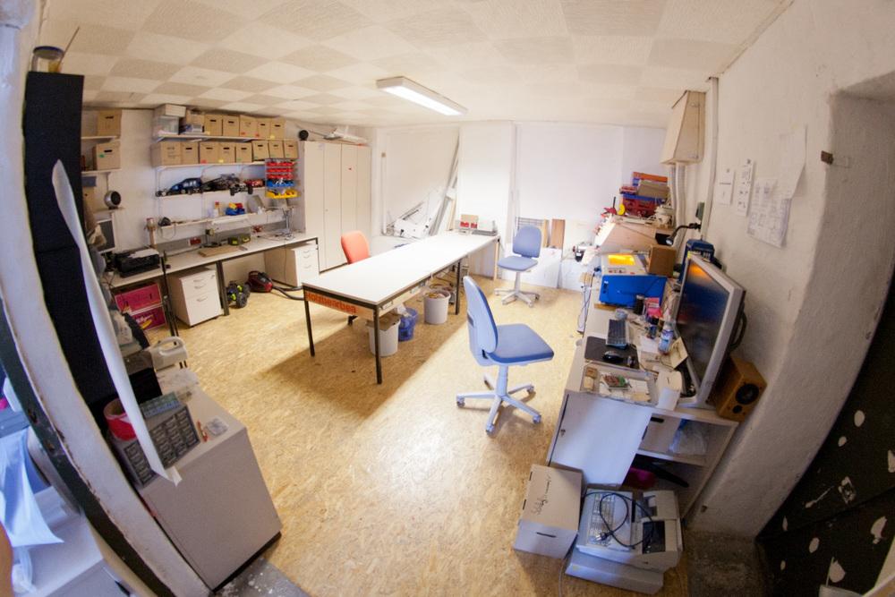 Blick in das Modellbau- und Lasercutter-Atelier Bildrechte: Eigenbaukombinat Halle e.V.