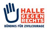 """Banner """"Halle gegen Rechts - Bündnis für Zivilcourage"""""""